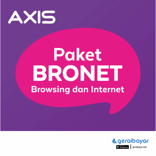 Paket Internet AXIS DATA BRONET - DATA AXIS BRONET 16GB 30 HARI