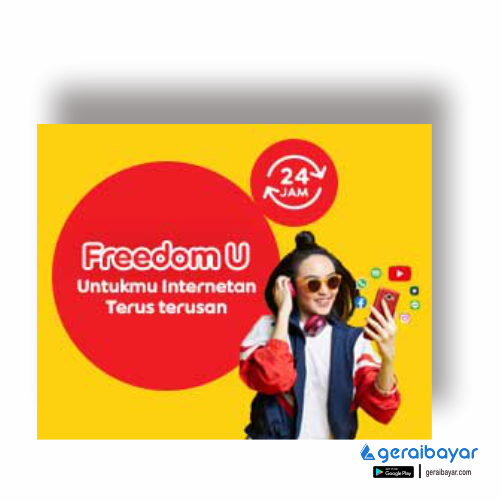 Paket Internet INDOSAT DATA FREDOOM UNLIMITED - FREEDOM UNLIMITED 3GB 30HR