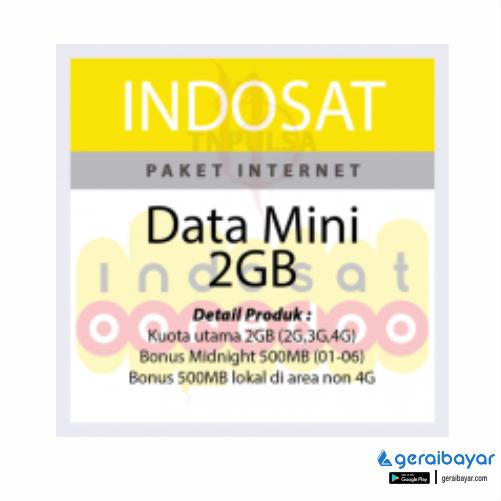 Paket Internet INDOSAT DATA MINI - ISAT DATA MINI 2GB 30HR (TOTAL 3GB)