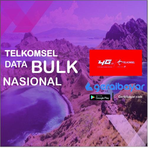 Paket Internet TELKOMSEL DATA BULK NASIONAL - TSEL DATA BULK NAS 3GB+1GB OMG 24JAM 30 HARI