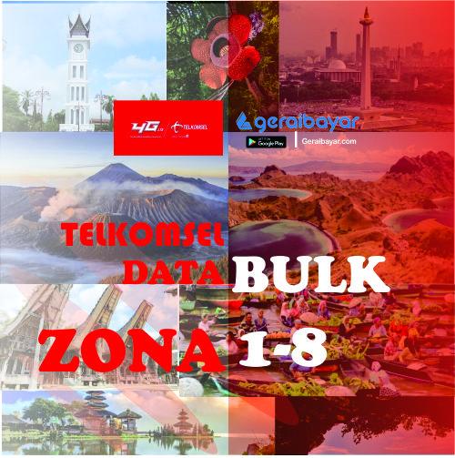 Paket Internet TELKOMSEL DATA BULK ZONA 1-8 - DATA BULK (ZONA 1-8) 25GB+2GB OMG 24 JAM 30 HARI