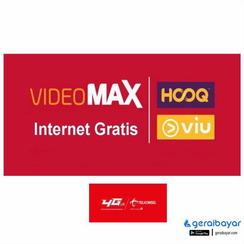 Paket Internet TELKOMSEL DATA VIDEOMAX - 1GB INTERNET + 5GB Langganan Basic 30 HARI