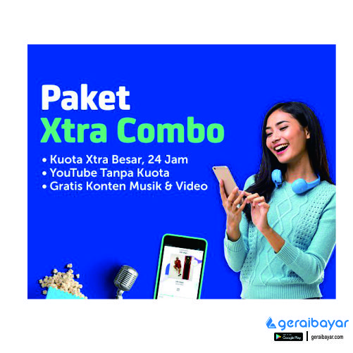 Paket Internet XL DATA COMBO XTRA - XL COMB 35GB(3G/4G)+35GB UTUB 30Hr 24Jam+90Mnt All