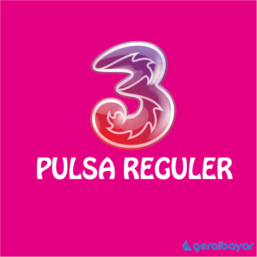 Pulsa THREE REGULAR - THREE REGULAR 100.000